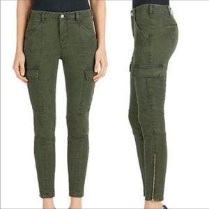 J. Brand 32 Olive Mis-Rise Houlihan Cargo Pants